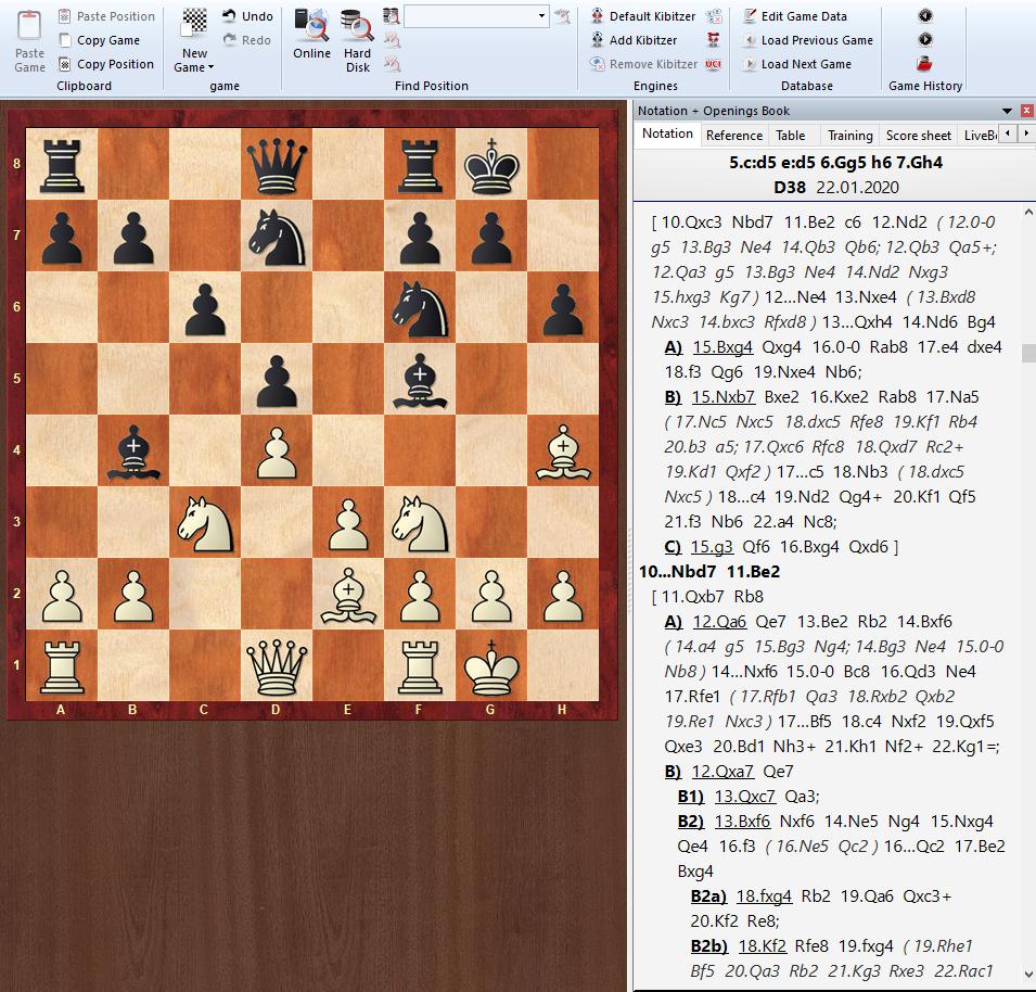 Przykład spisanego debiutu szachowego